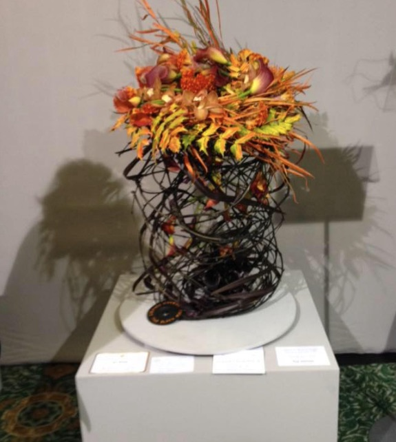 Eva's exhibit at Flower Arranger of the Year Competition